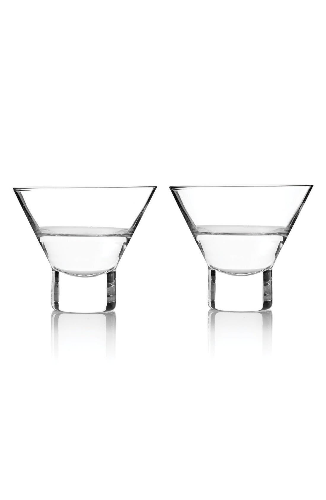 true fabrications Stemless Martini Glasses (Set of 2)