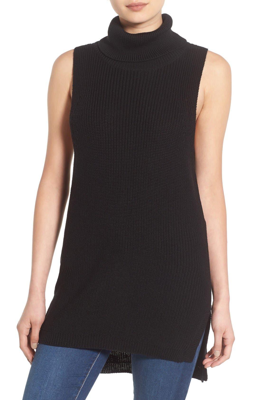 Alternate Image 1 Selected - BP. Sleeveless Turtleneck Sweater