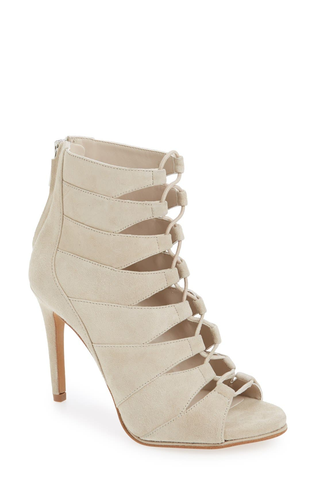 'Barlow' Sandal,                         Main,                         color, Taupe Suede