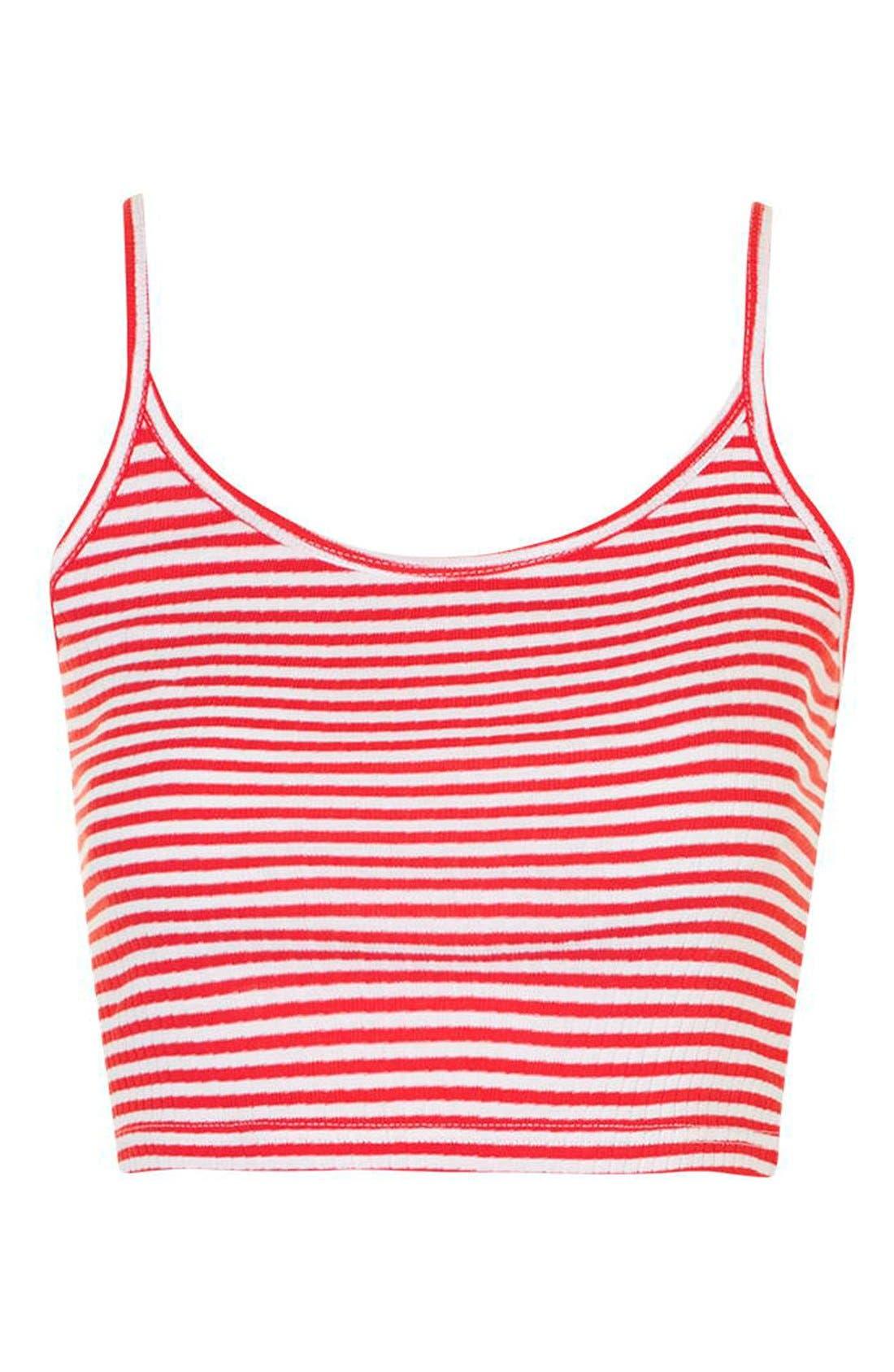Alternate Image 4  - Topshop 'Bella' Stripe Crop Camisole