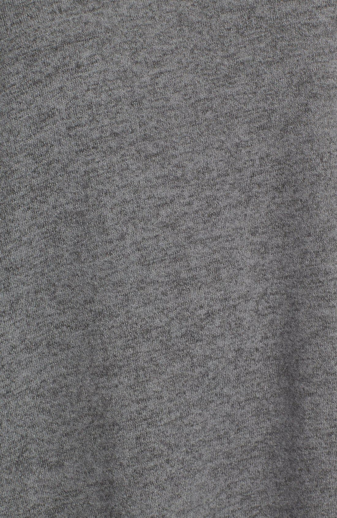 Alternate Image 5  - Bobeau Rib Long Sleeve Fuzzy Top (Regular & Petite)