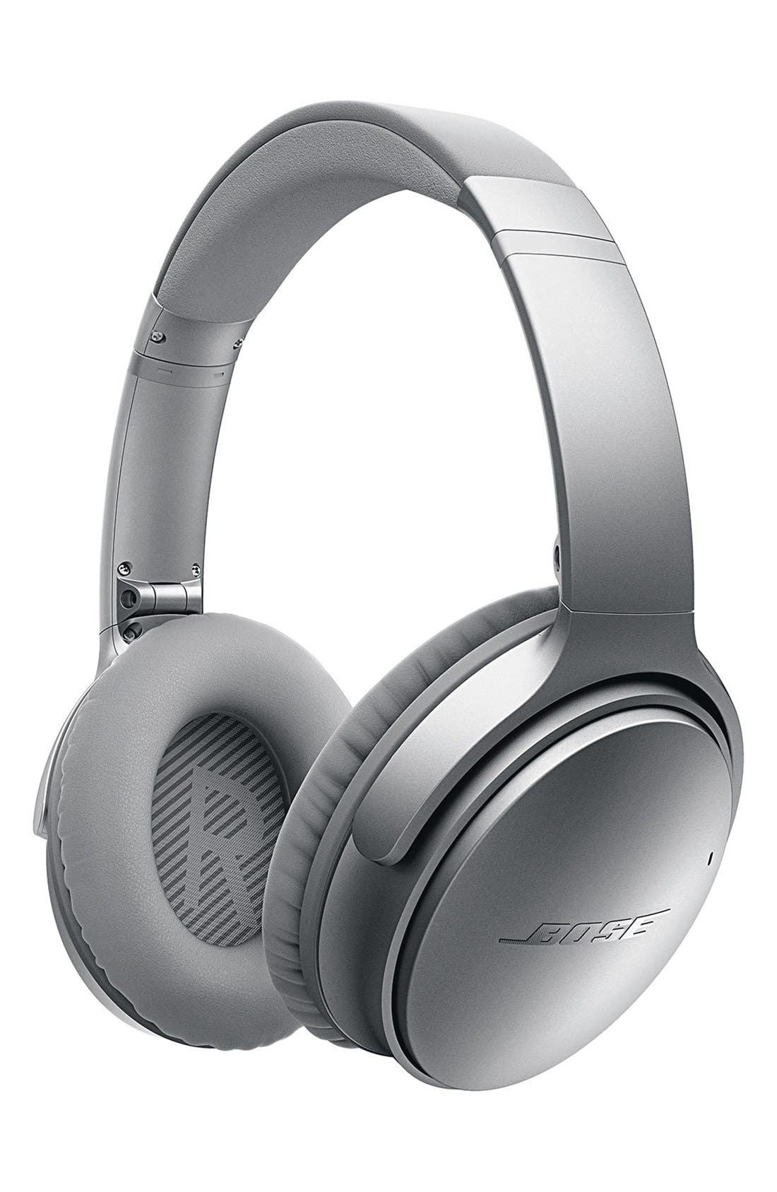 QuietComfort<sup>®</sup> 35 Acoustic Noise Cancelling<sup>®</sup> Bluetooth<sup>®</sup> Headphones,                             Alternate thumbnail 3, color,                             Silver
