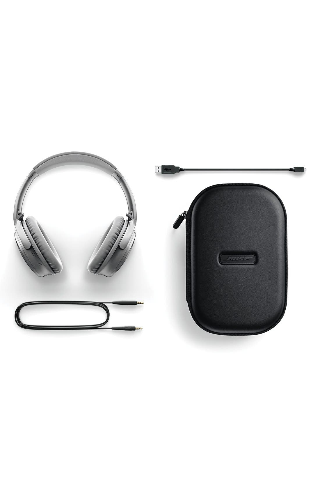 QuietComfort<sup>®</sup> 35 Acoustic Noise Cancelling<sup>®</sup> Bluetooth<sup>®</sup> Headphones,                             Alternate thumbnail 7, color,                             Silver
