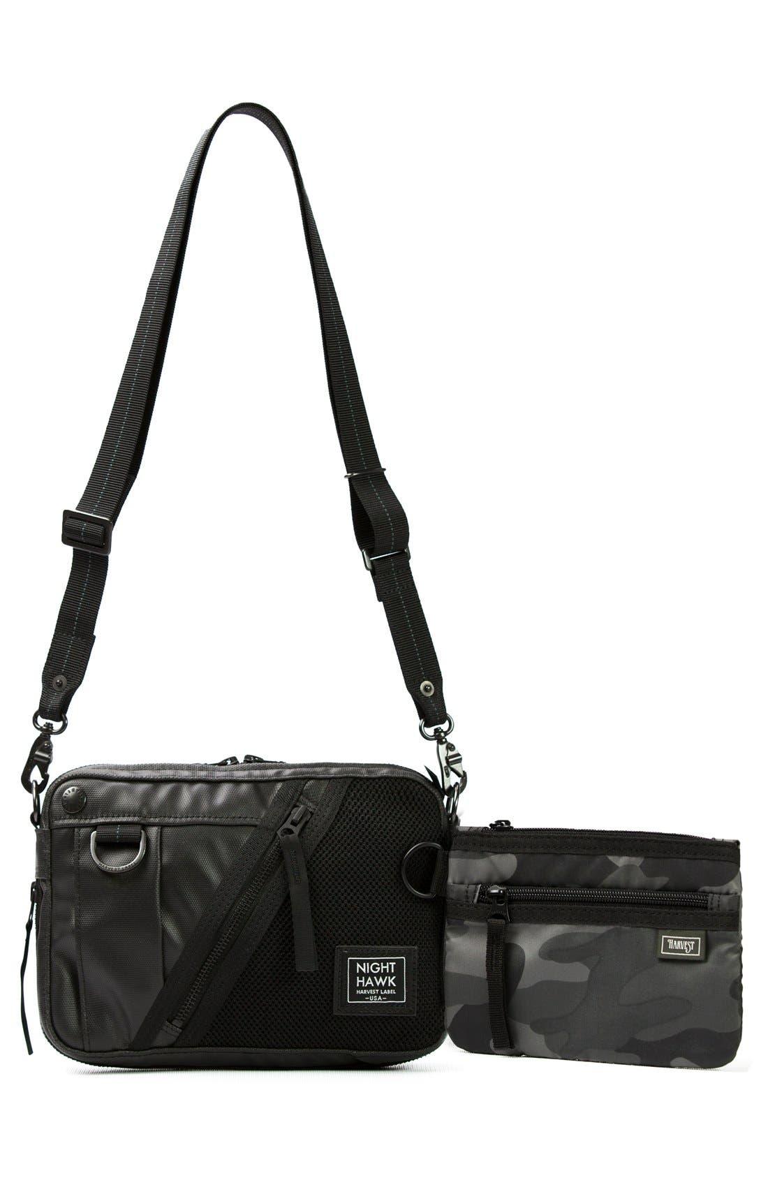 'NightHawk' Shoulder Bag,                             Alternate thumbnail 5, color,                             Black