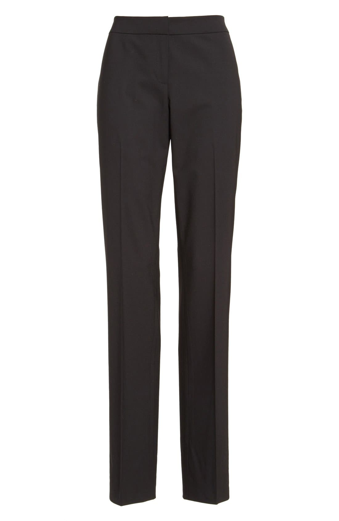 Alternate Image 4  - Lafayette 148 New York 'Barrow' Stretch Wool Pants