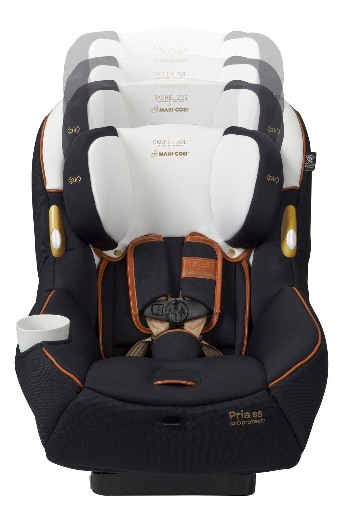 x Rachel Zoe Pria<sup>™</sup> 85 - Special Edition Car Seat,                             Alternate thumbnail 7, color,                             Black/ White