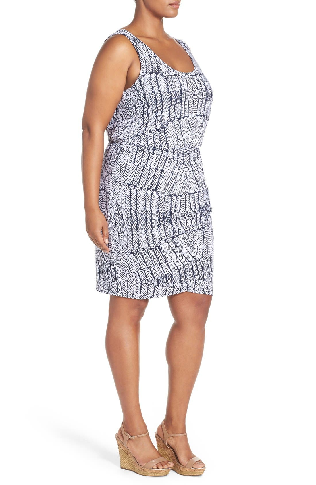 Alternate Image 3  - Tart Jan Print Jersey Sleeveless Blouson Dress (Plus Size)