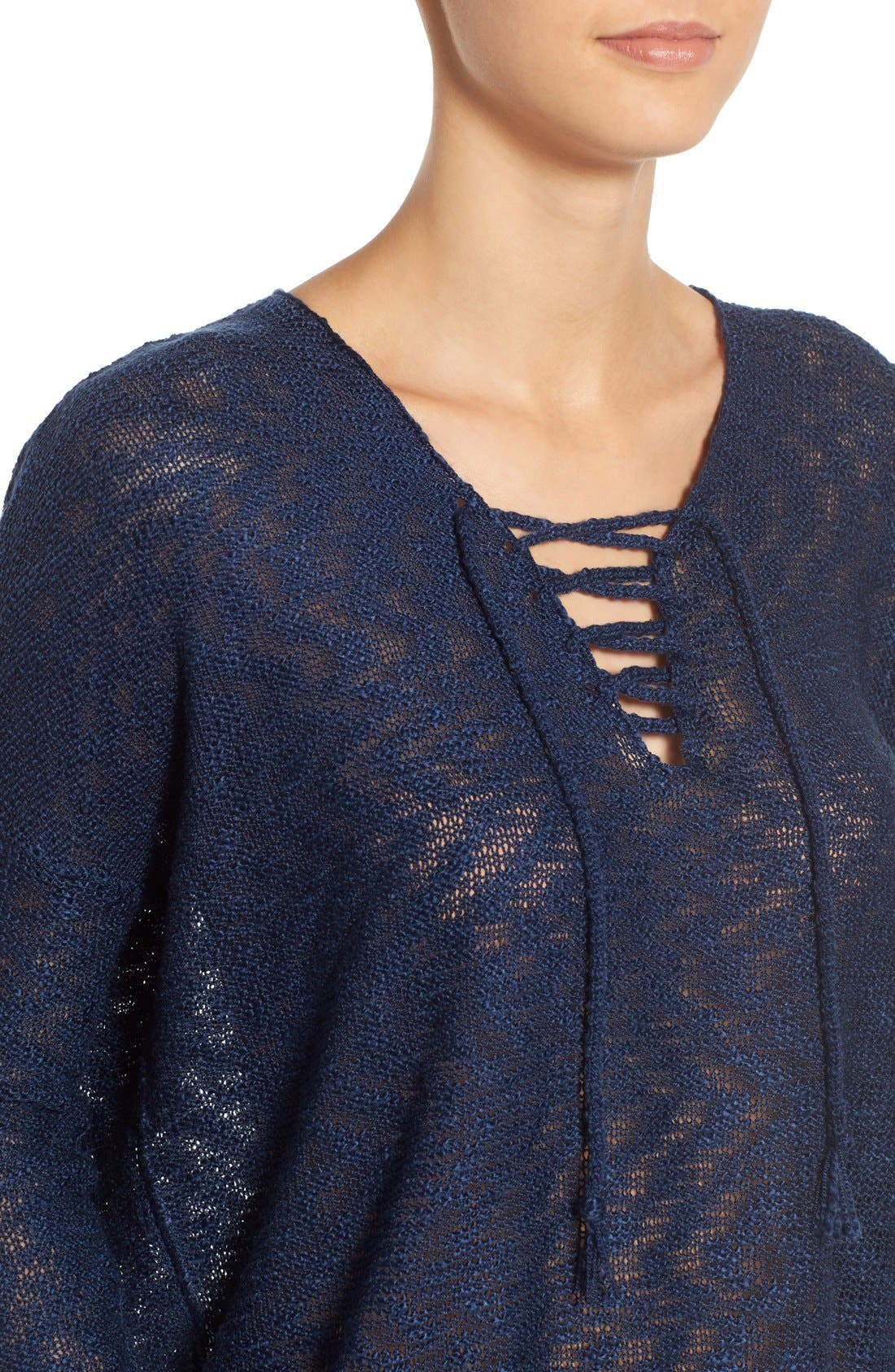 Alternate Image 4  - Love by Design Lace-Up Pullover