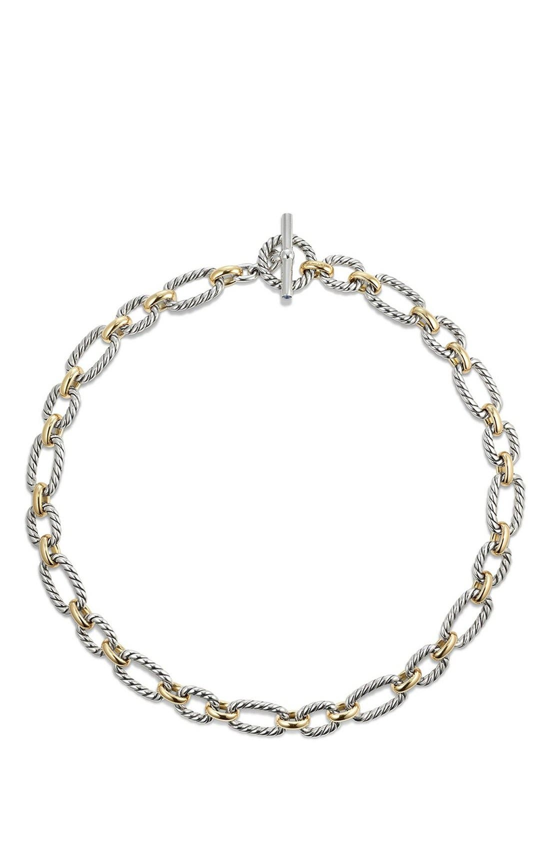 Alternate Image 2  - David Yurman Cushion Link Necklace with Blue Sapphires