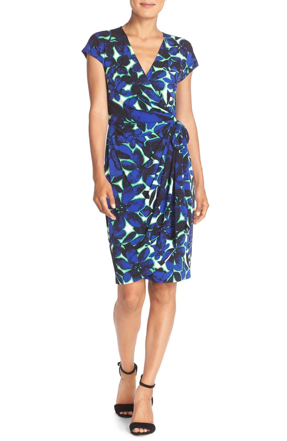 Alternate Image 4  - Maggy London Print Wrap Dress (Regular & Petite)