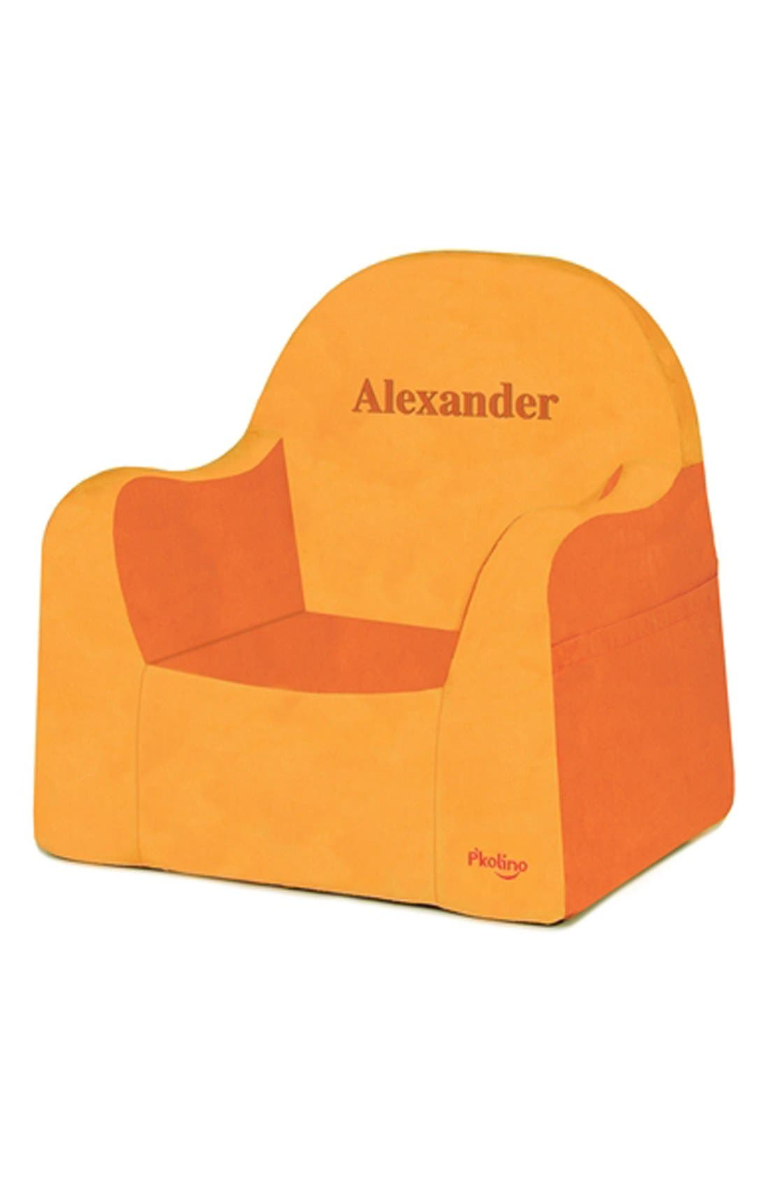 'Personalized Little Reader' Chair,                         Main,                         color, Orange