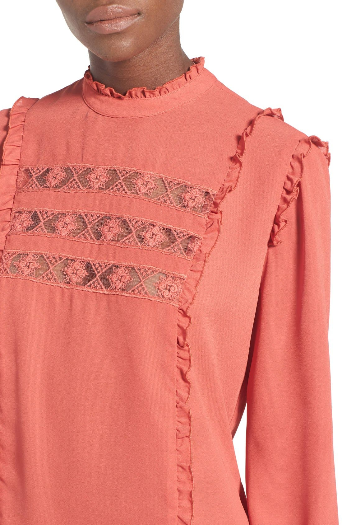 Alternate Image 6  - WAYF 'Westin' Lace Peasant Top