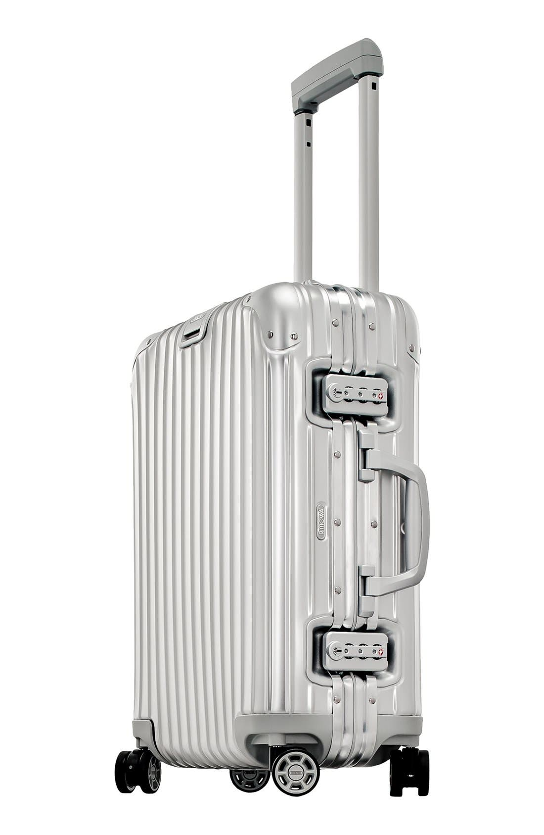 Topas 22-Inch Cabin Multiwheel<sup>®</sup> Aluminum Carry-On,                             Alternate thumbnail 3, color,                             Silver