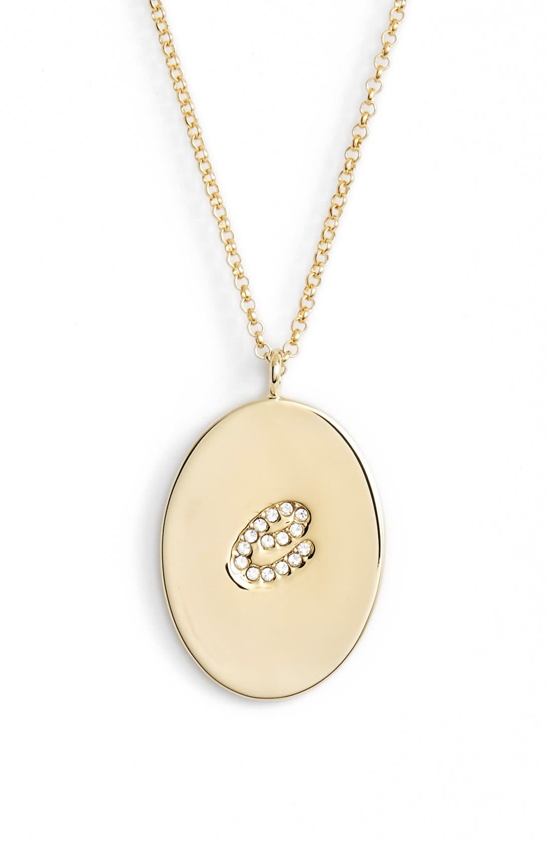 Main Image - kate spade new york 'initial thoughts' initial pendant necklace