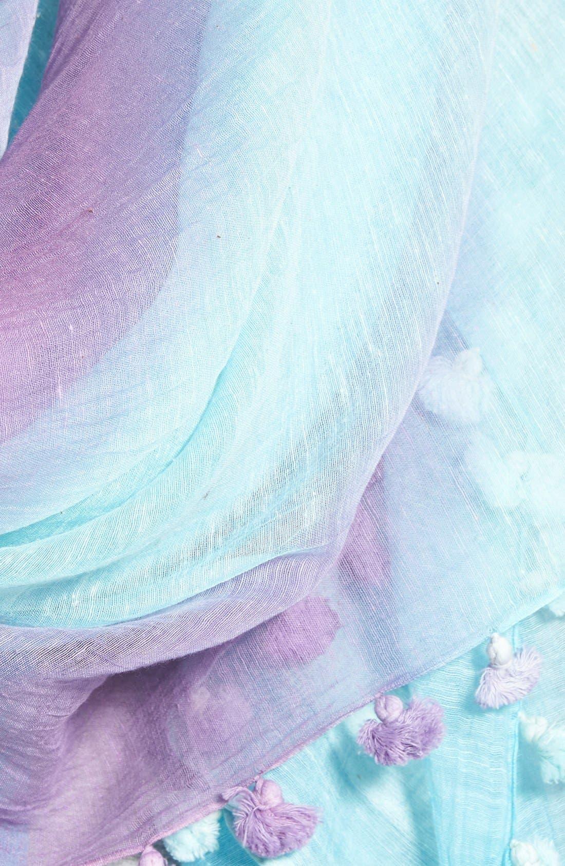 Alternate Image 3  - La Fiorentina Striped Ombré Cotton & Silk Scarf