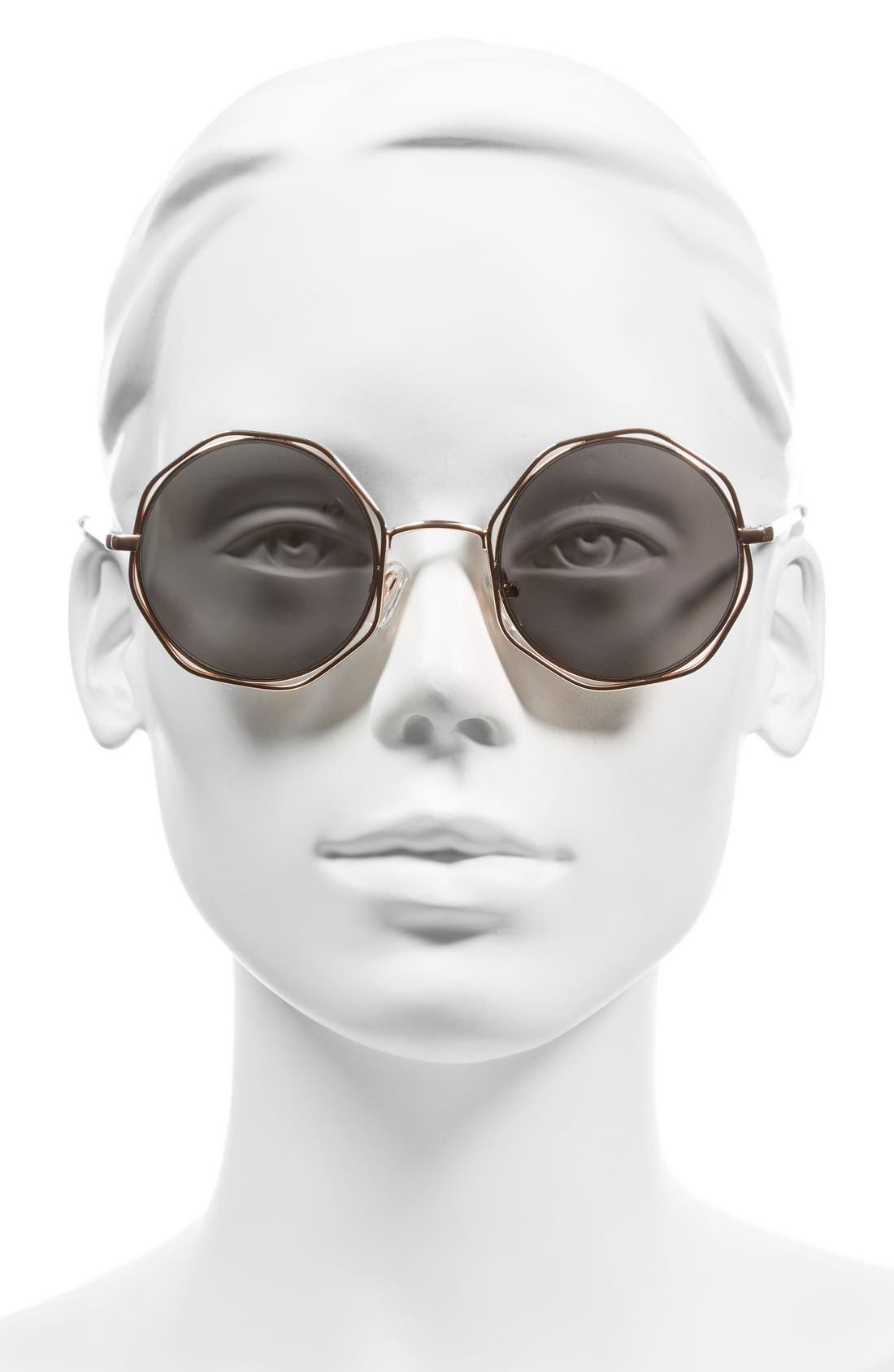 Alternate Image 2  - A.J. Morgan 'Clayton' 48mm Octagon Wire Sunglasses