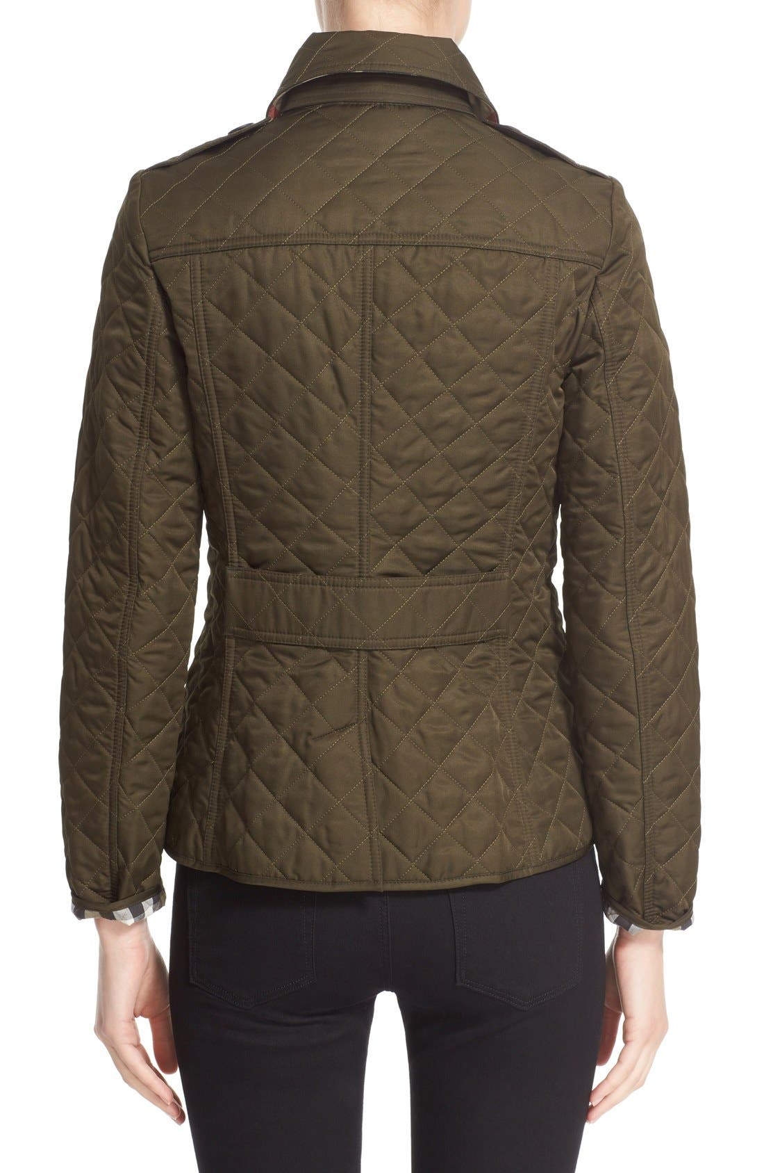 Alternate Image 2  - Burberry Ashurst Quilted Jacket