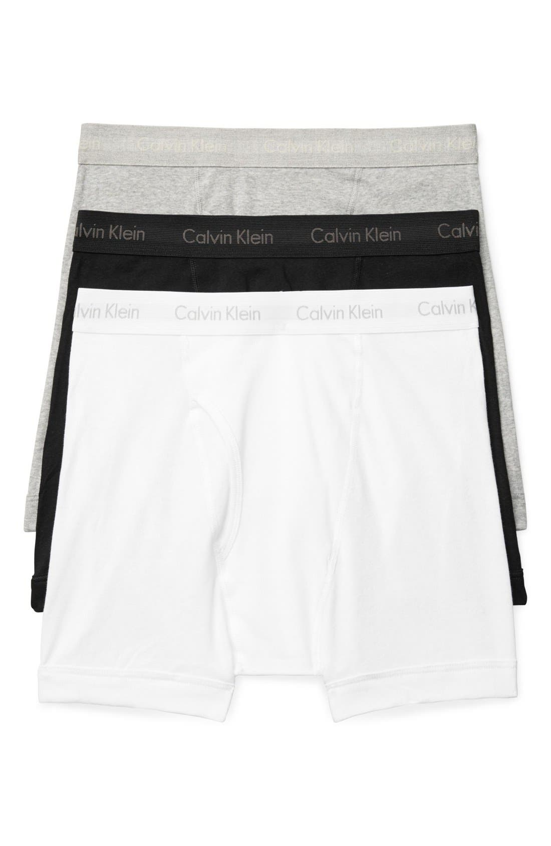 3-Pack Boxer Briefs,                         Main,                         color, White/ Black/ Heather Grey