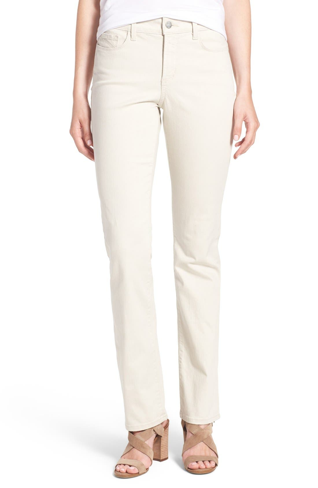 Marilyn Stretch Straight Leg Jeans,                         Main,                         color, Clay