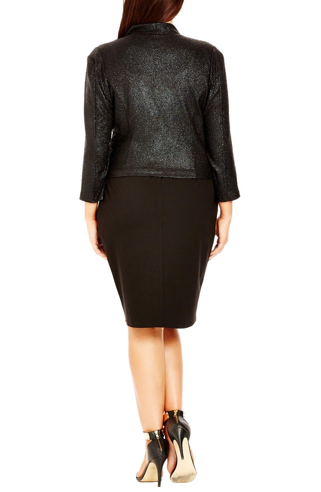 Alternate Image 2  - City Chic 'Shimmer' Jacket (Plus Size)