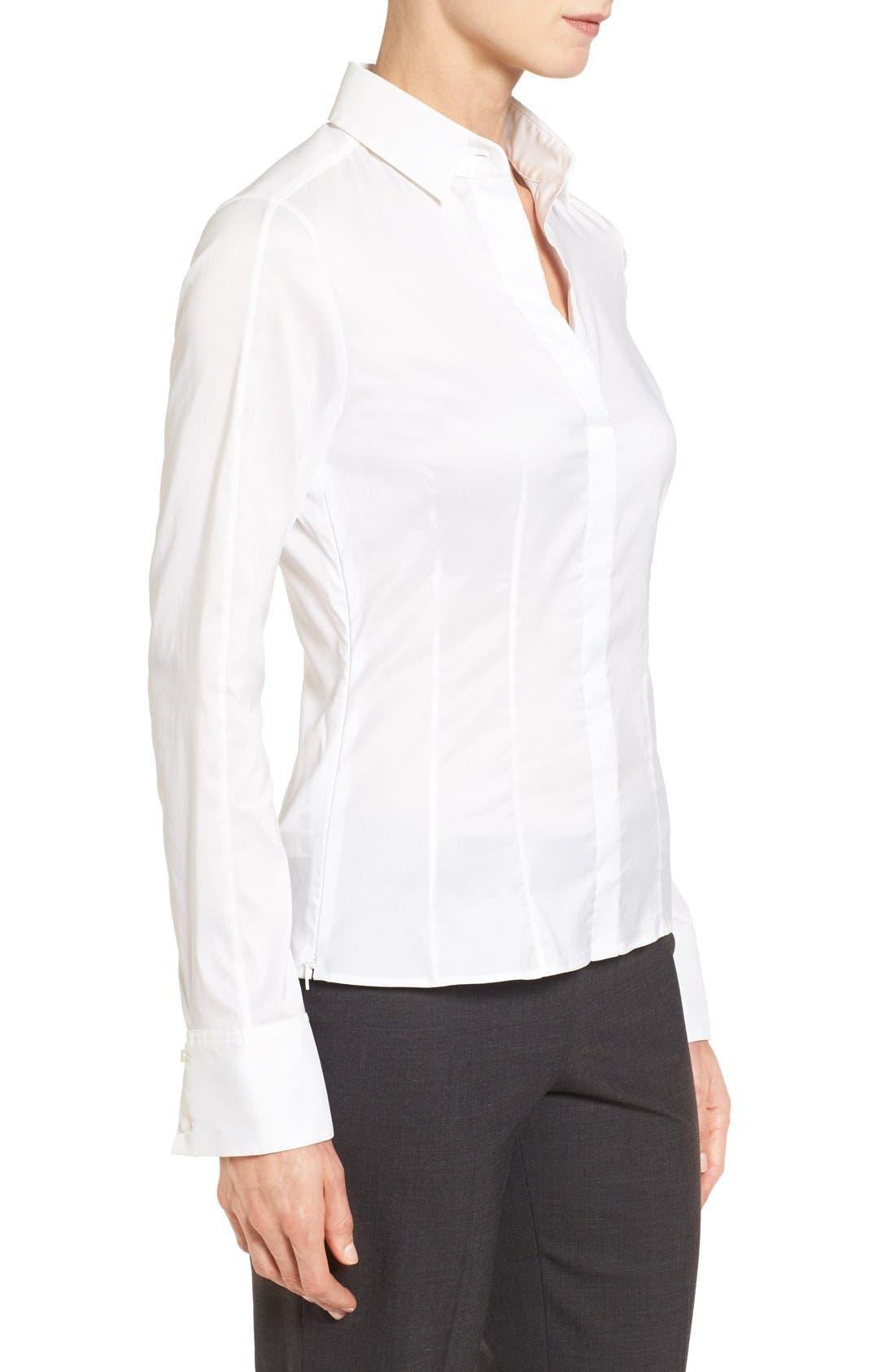 Alternate Image 3  - BOSS 'Bashina' Stretch Poplin Shirt (Regular & Petite)