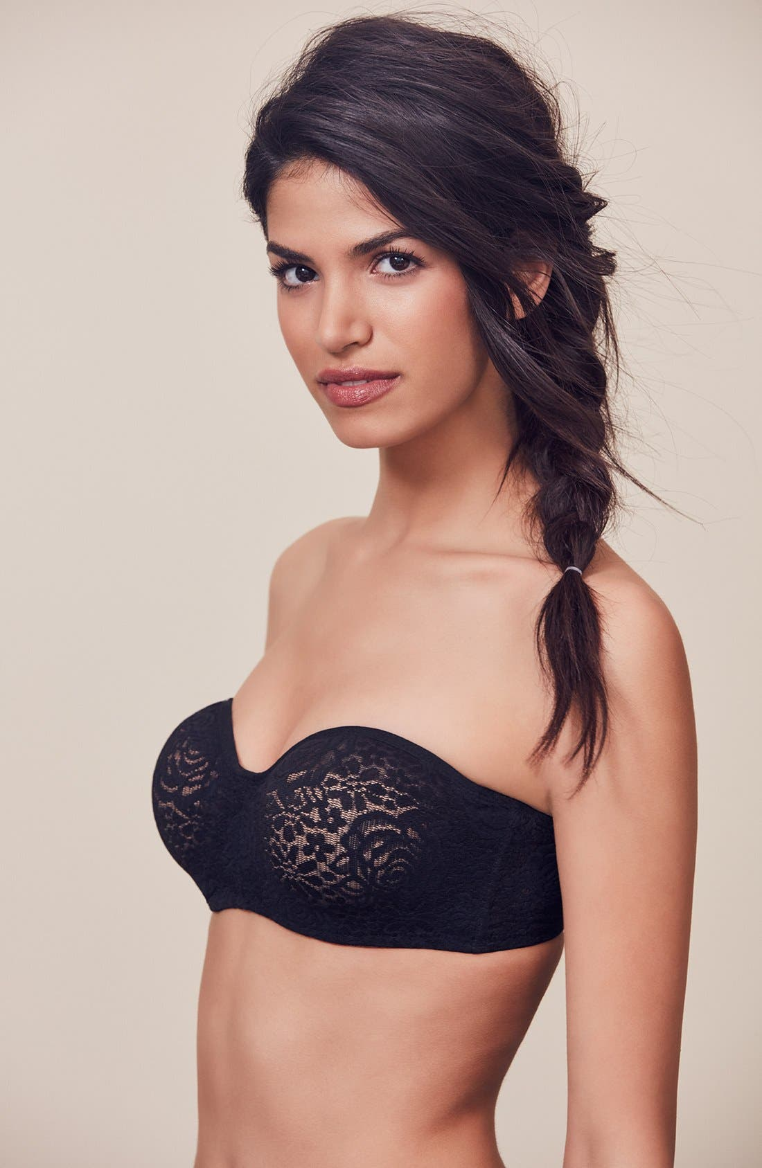 'Halo' Convertible Underwire Bra,                             Alternate thumbnail 5, color,                             Black