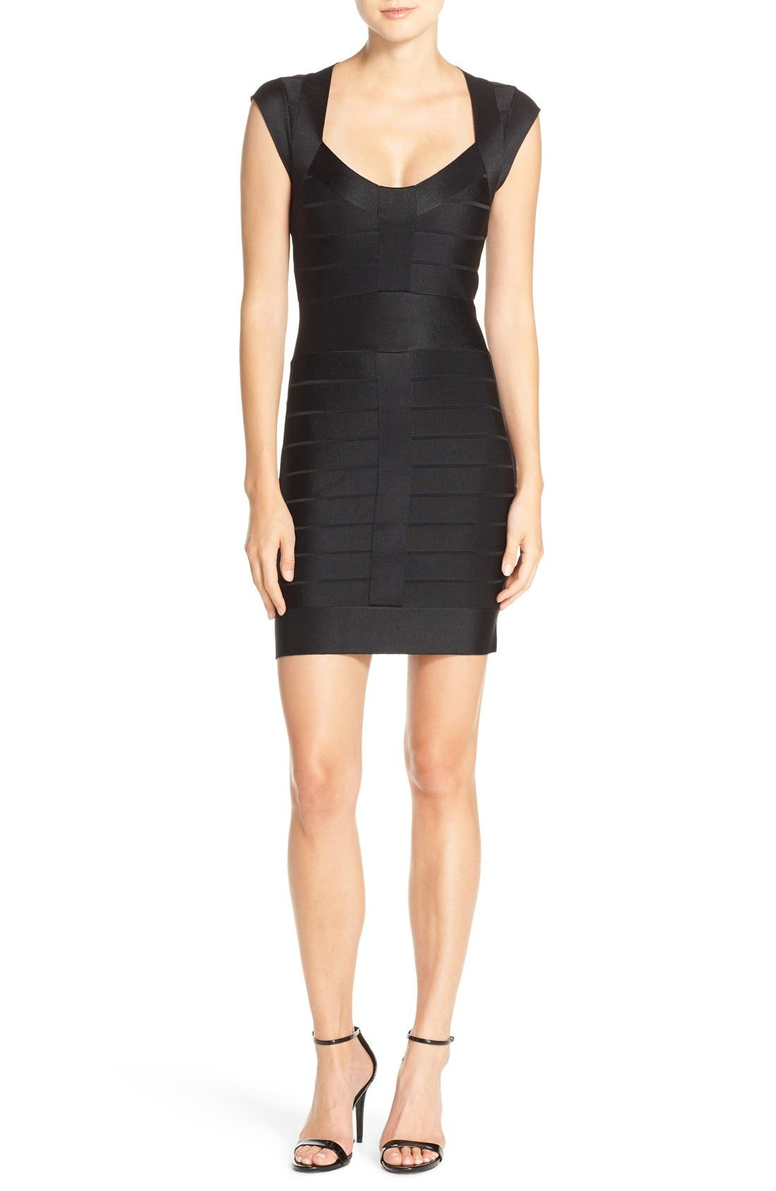 Main Image - French Connection 'Miami Spotlight' Cap Sleeve Bandage Dress