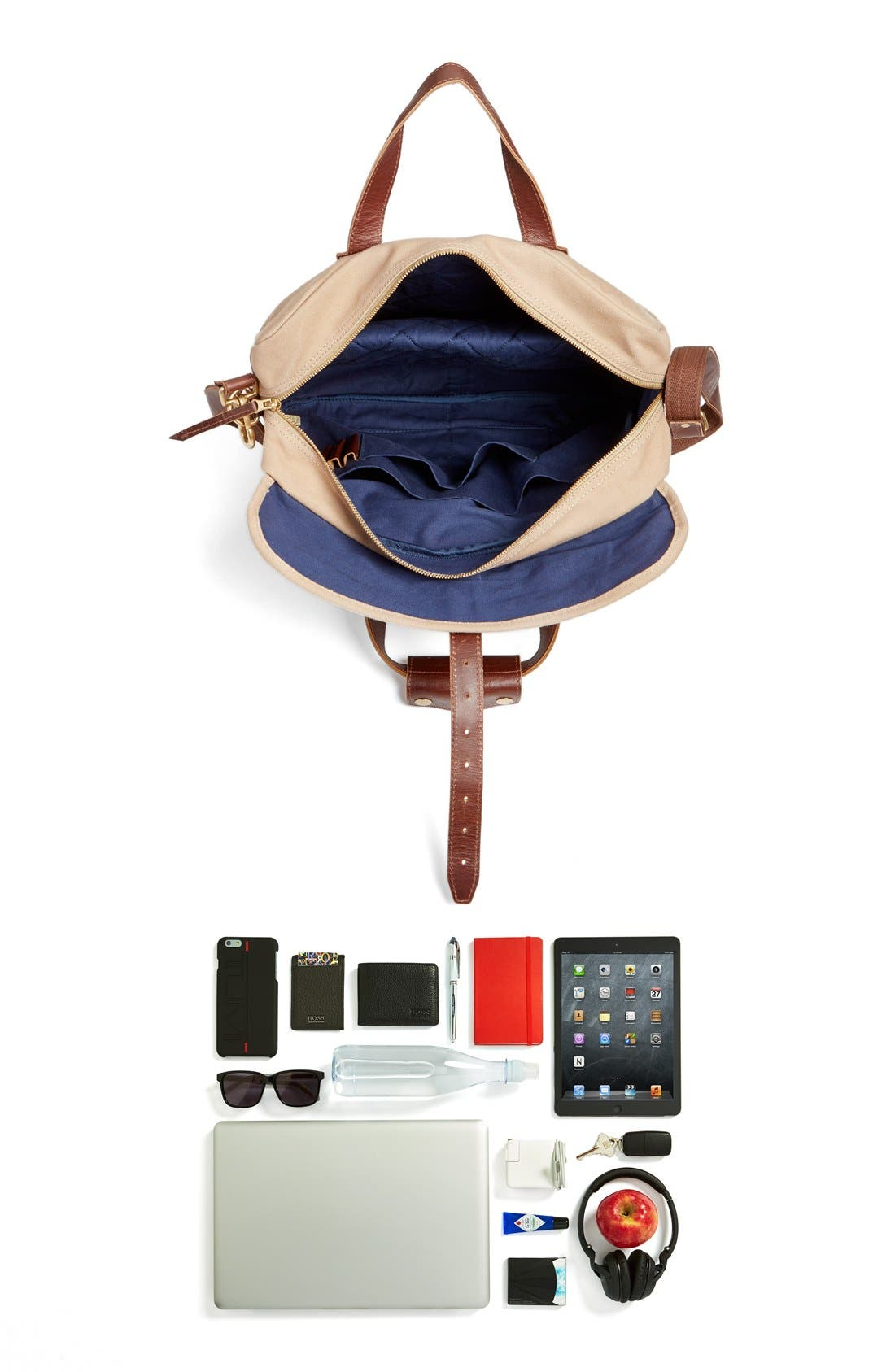 'Lakeland' Laptop Bag,                             Alternate thumbnail 8, color,                             Tan