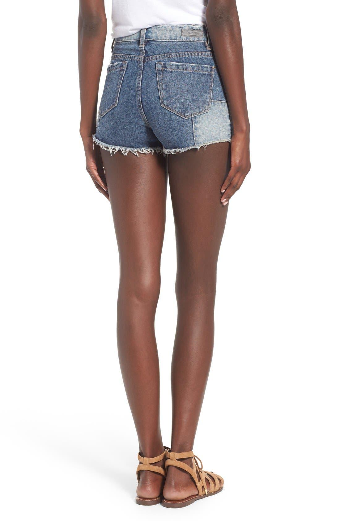 Alternate Image 2  - BLANKNYC Distressed Cutoff Denim Shorts (Rough Patch)