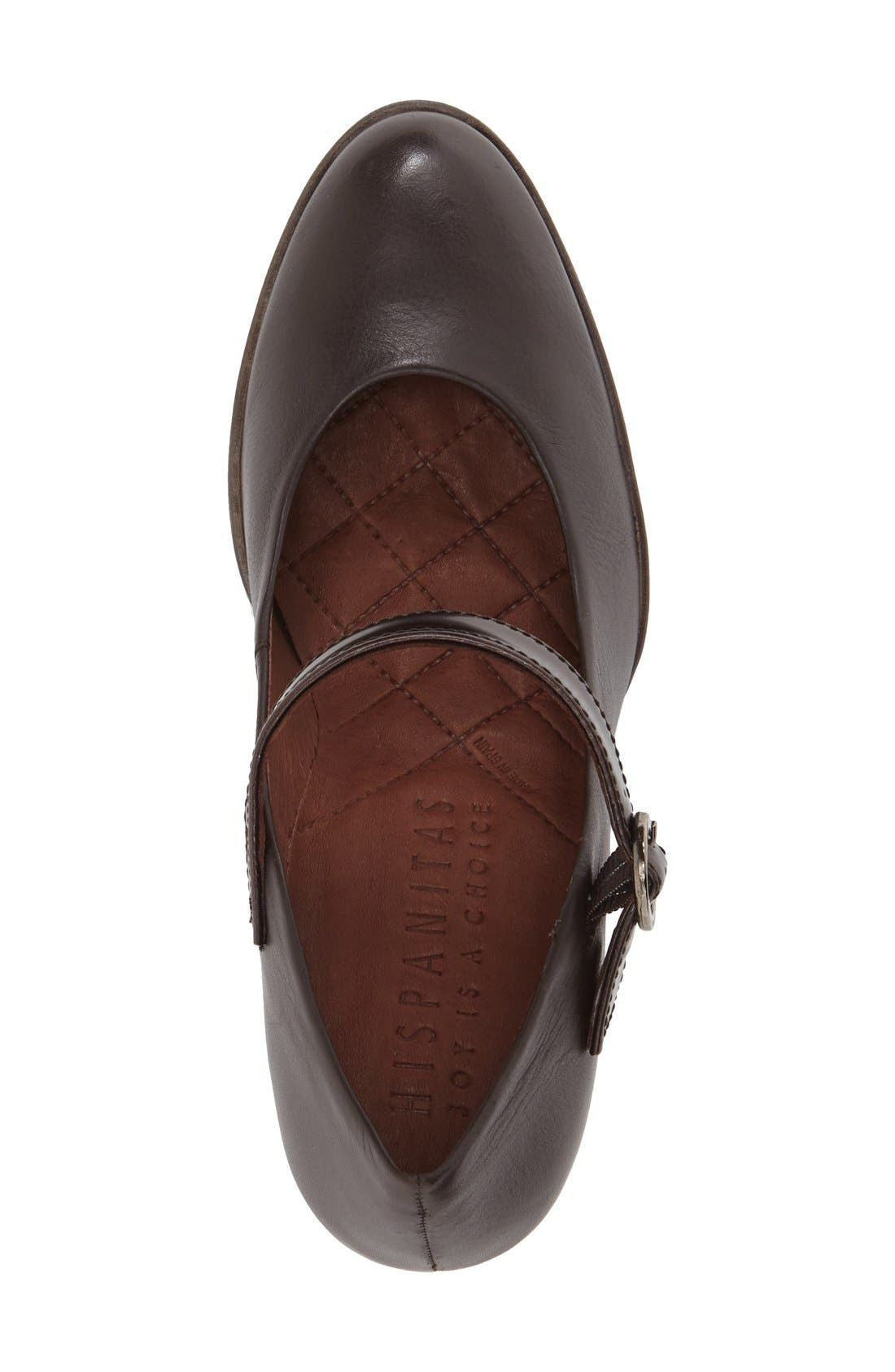 'Veda' Mary Jane Pump,                             Alternate thumbnail 3, color,                             Brown Leather
