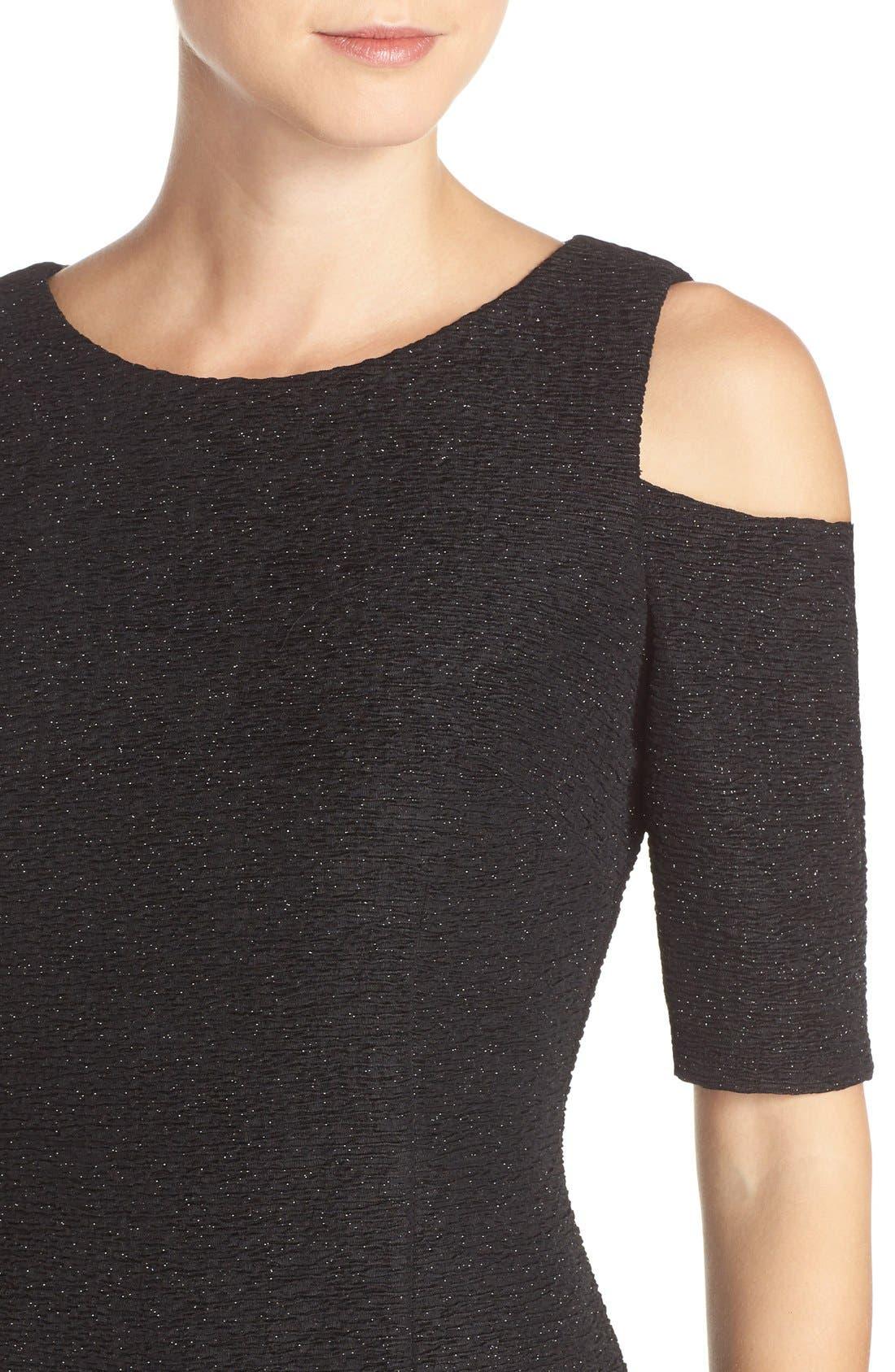 Alternate Image 4  - Eliza J Cold Shoulder Sparkle Knit Sheath Dress