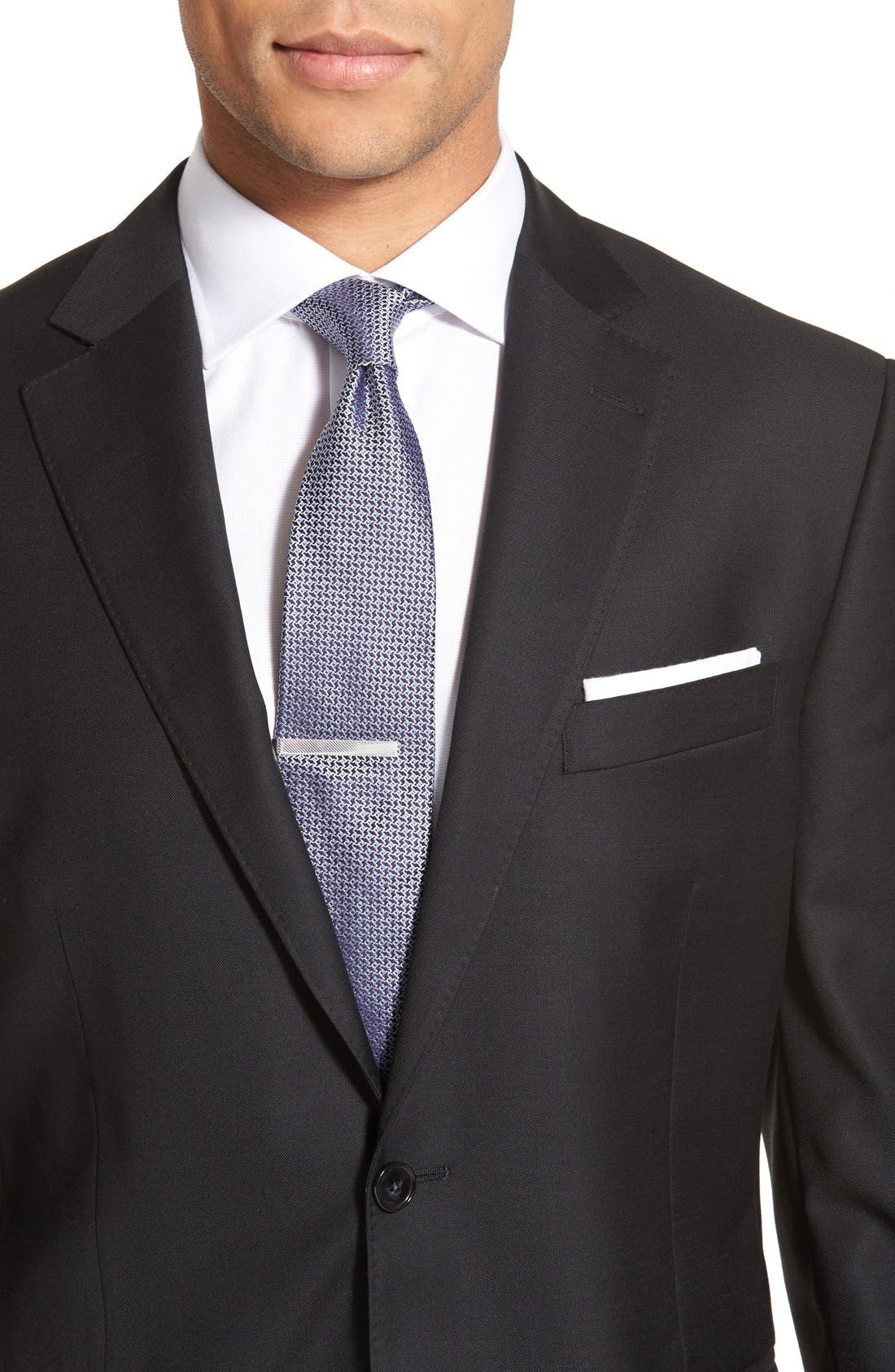 Flynn Classic Fit Solid Wool Suit,                             Alternate thumbnail 5, color,                             Black