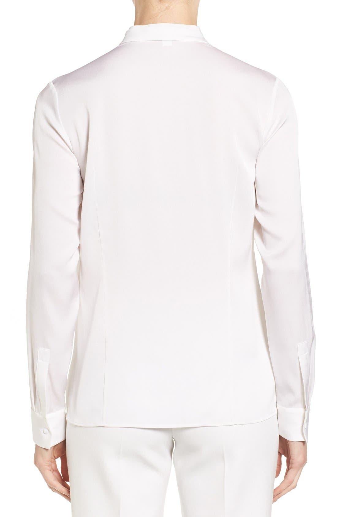 Alternate Image 2  - BOSS 'Blusil' Stretch Silk Blouse