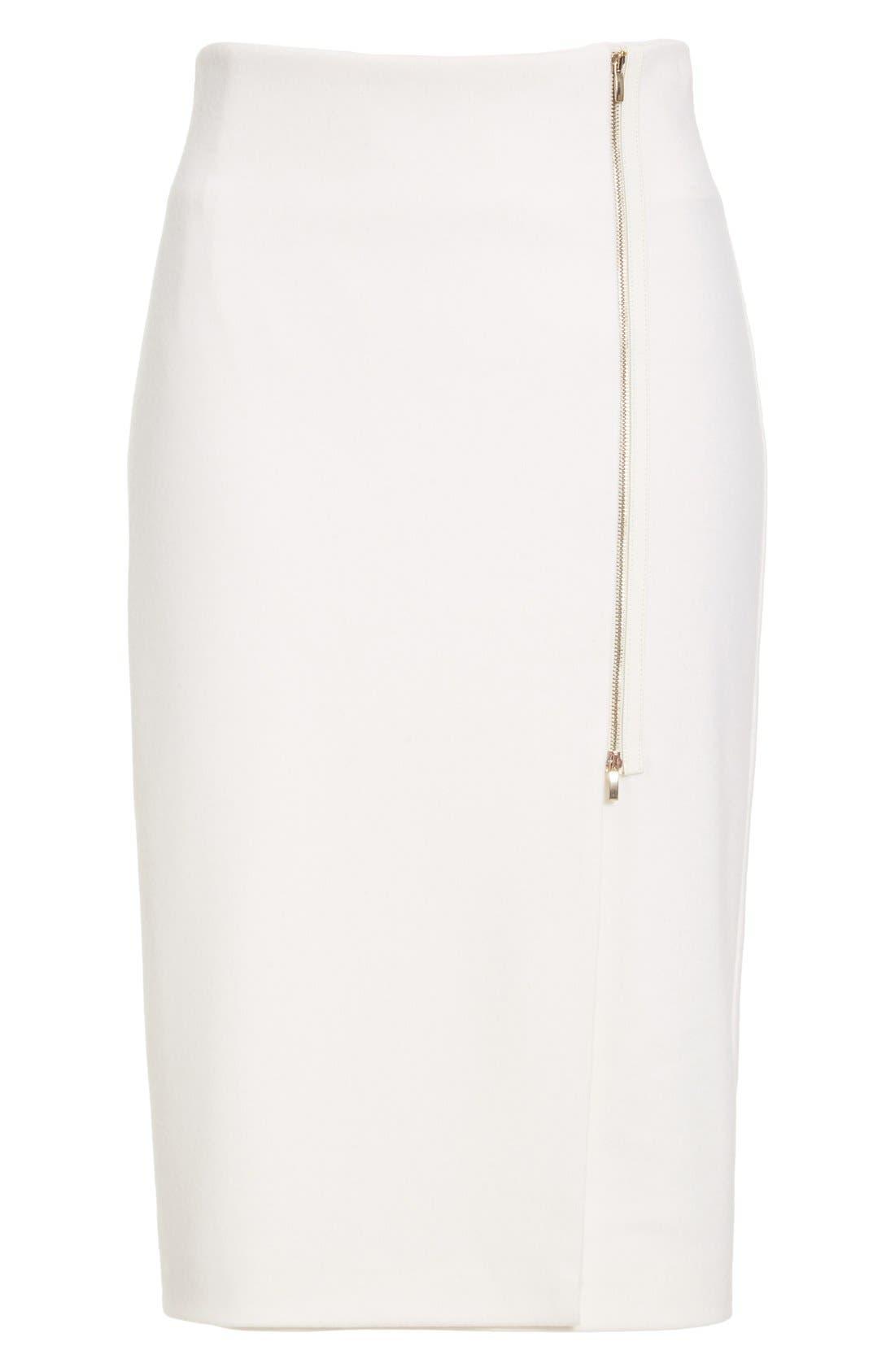 Alternate Image 4  - Max Mara 'Visita' Wool Jersey Pencil Skirt