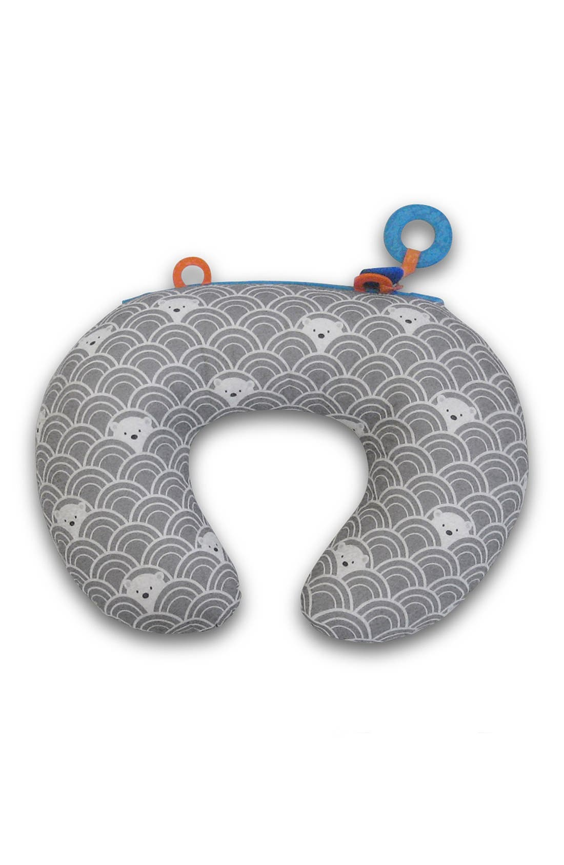 'Tummy Time - SlideLine Collection' Mini Pillow, Book & Teething Ring,                         Main,                         color, Grey