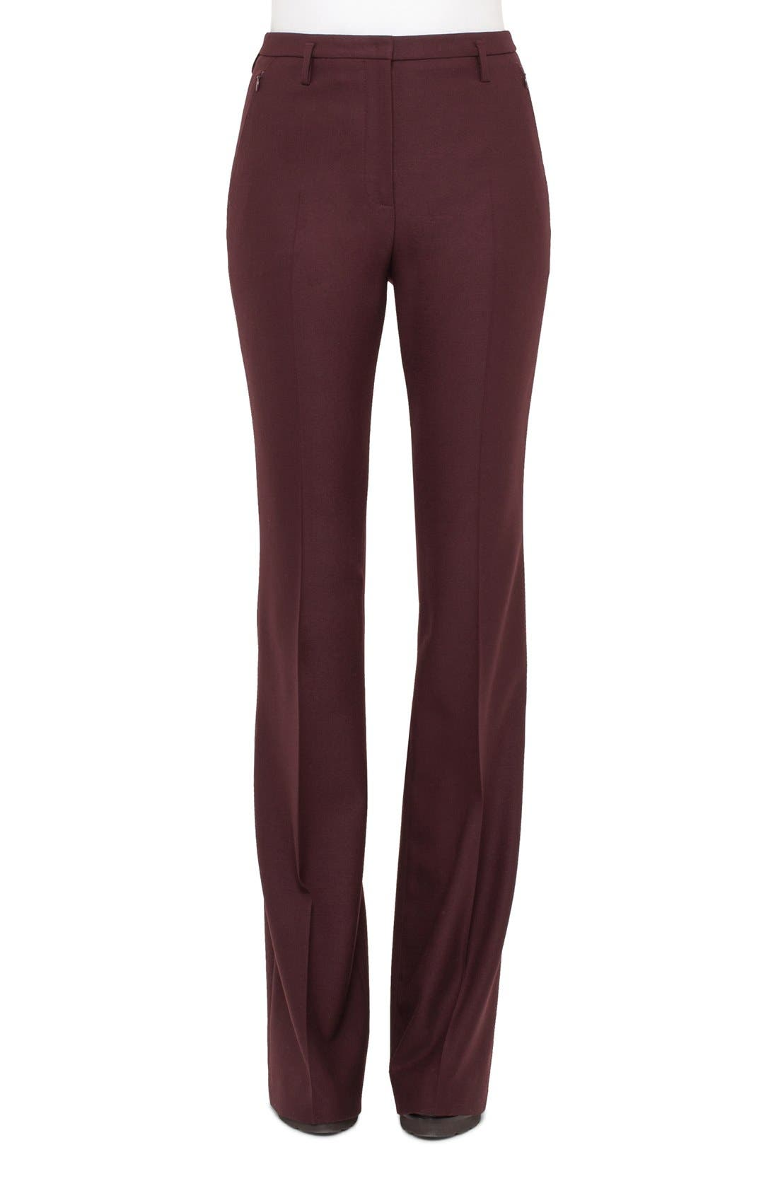 Main Image - Akris 'Fairytale' Stretch Wool Flannel Pants