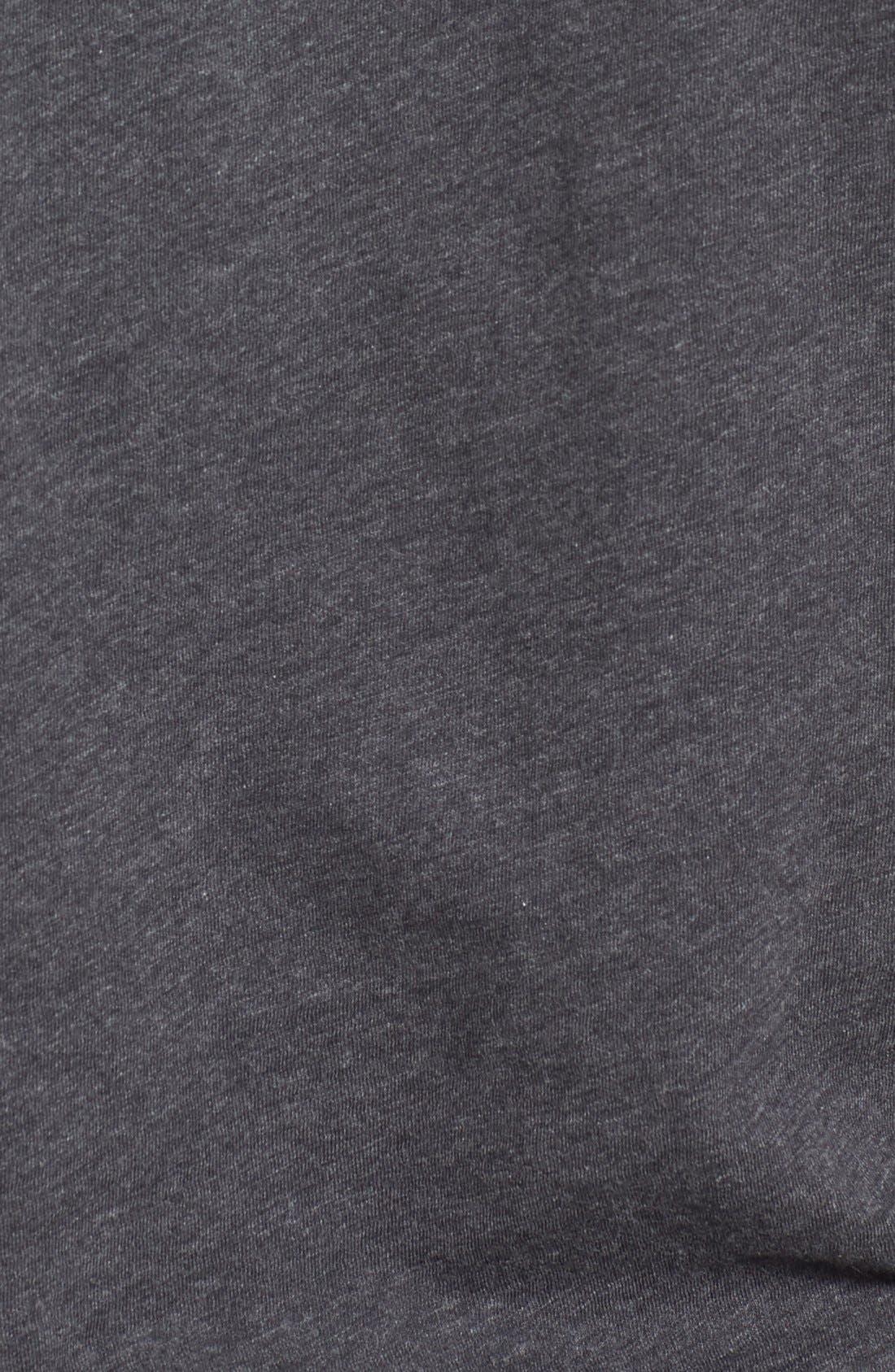 'Bing' V-Neck Pocket T-Shirt,                             Alternate thumbnail 5, color,                             Dark Charcoal Heather