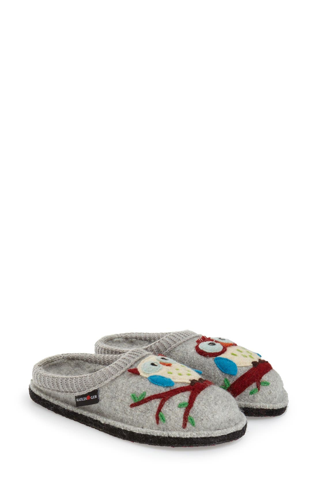 Alternate Image 1 Selected - Haflinger 'Olivia' Owl Slipper (Women)