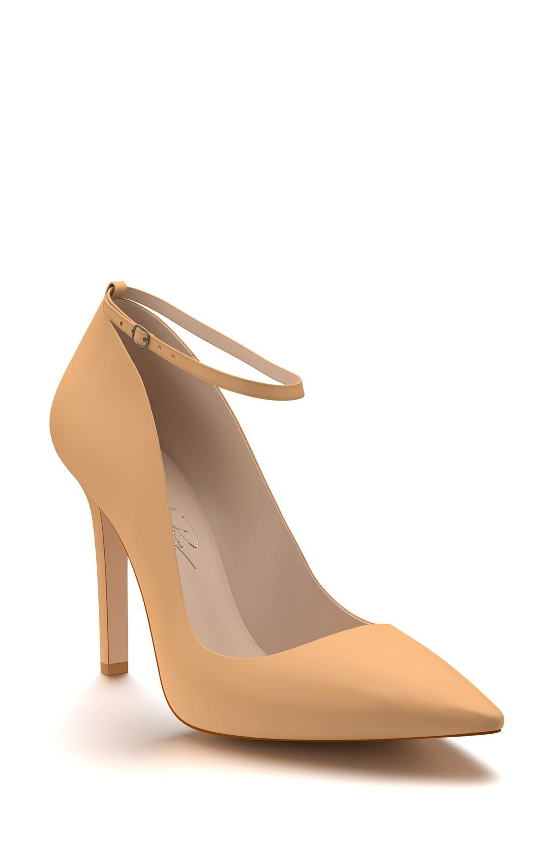 Ankle Strap Pump,                             Main thumbnail 1, color,                             Spiced Tan Leather