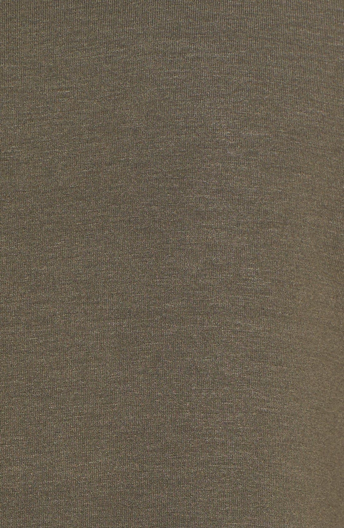 Lightweight Jersey Round Neck Tunic,                             Alternate thumbnail 5, color,                             Oregano