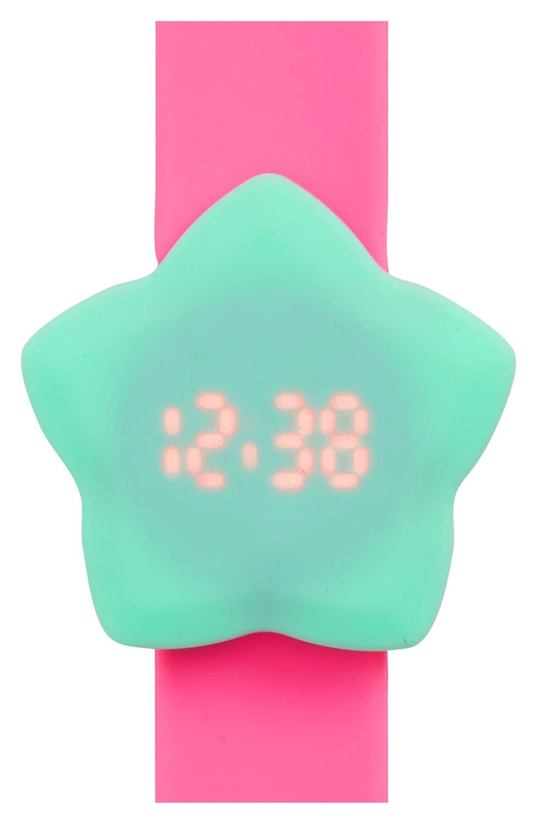 Main Image - Titanium Star LED Slap Watch (Girls)