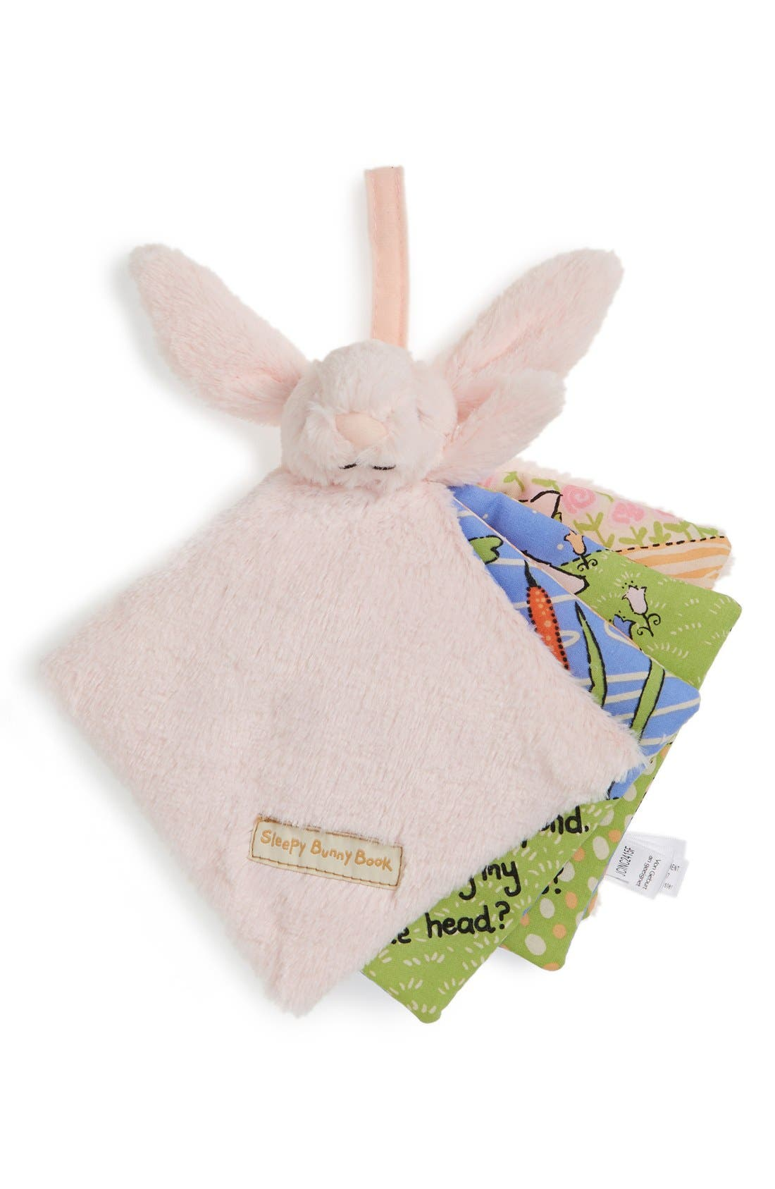 'Sleepy Bunny' Soft Fabric Book,                         Main,                         color, Pink