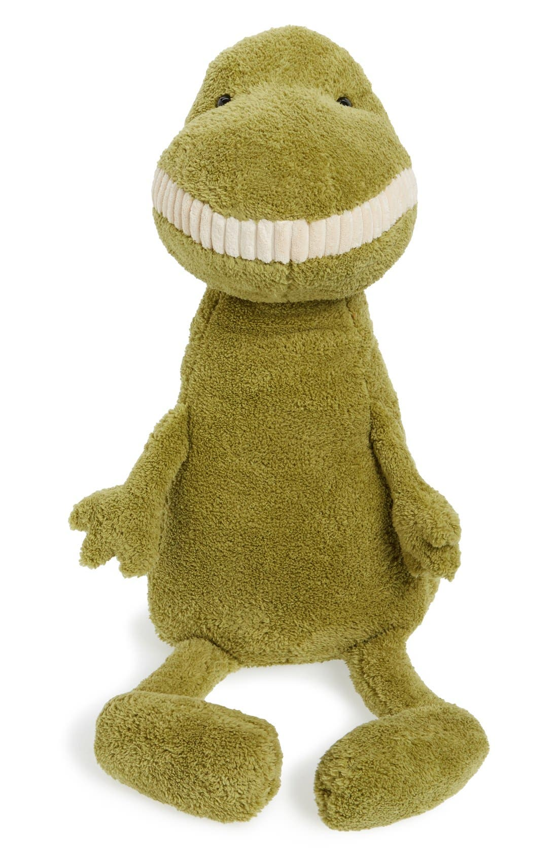 'Huge Toothy T-Rex' Stuffed Animal,                         Main,                         color, Green