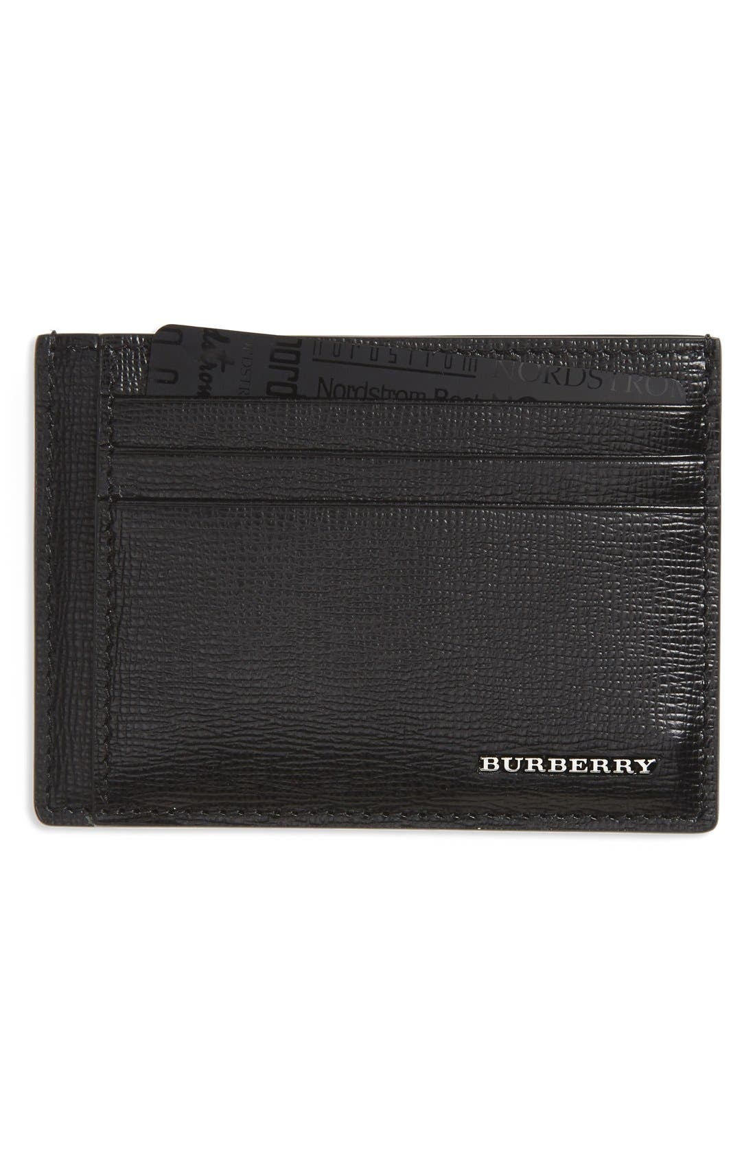 BURBERRY Chase Money Clip Card Case