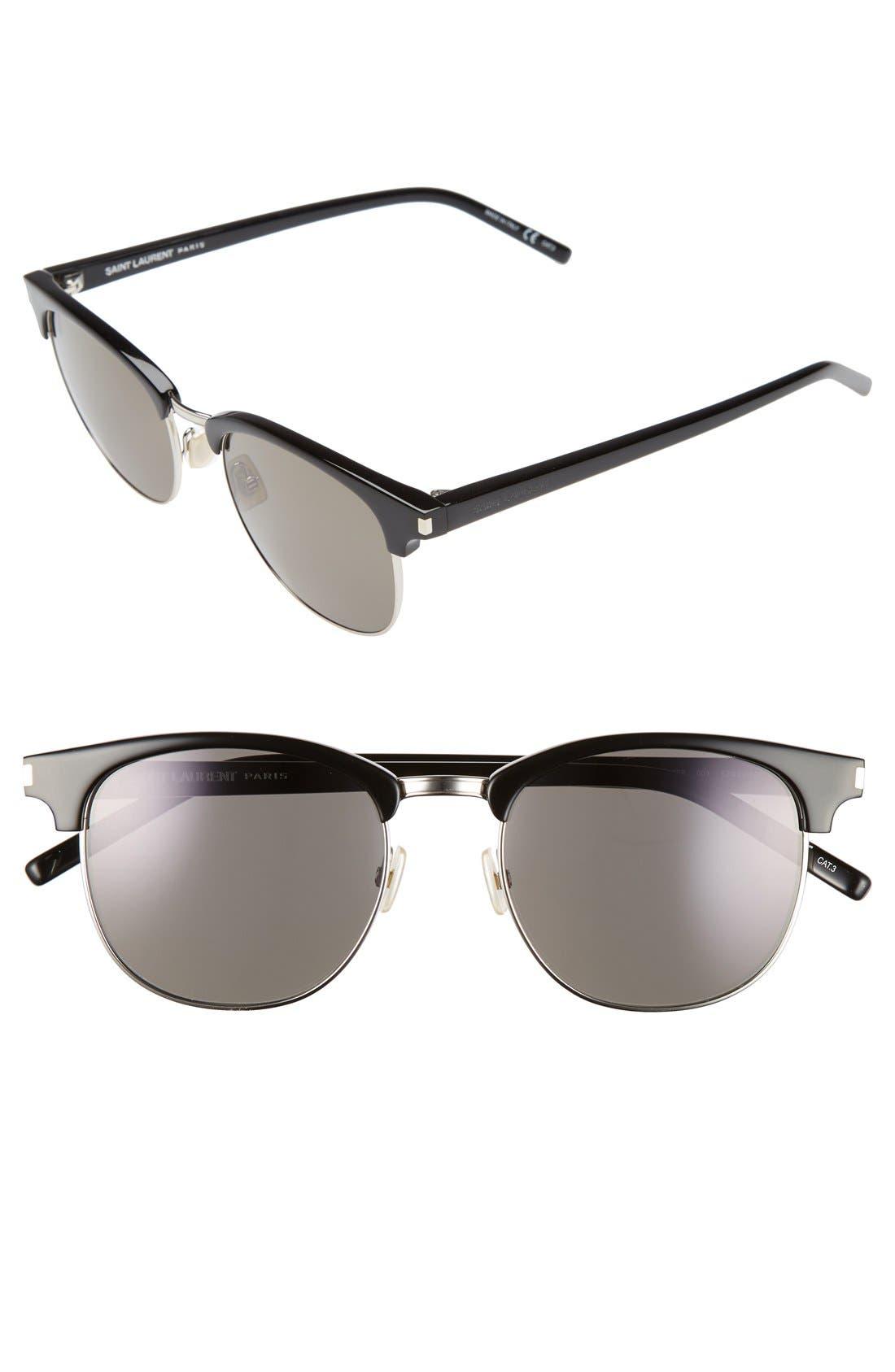 Main Image - Saint Laurent 52mm Sunglasses