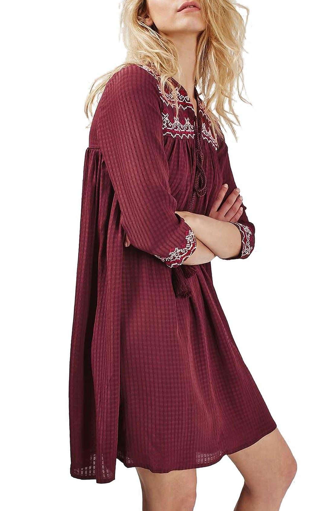 Alternate Image 3  - Topshop Cross Stitched Peasant Dress