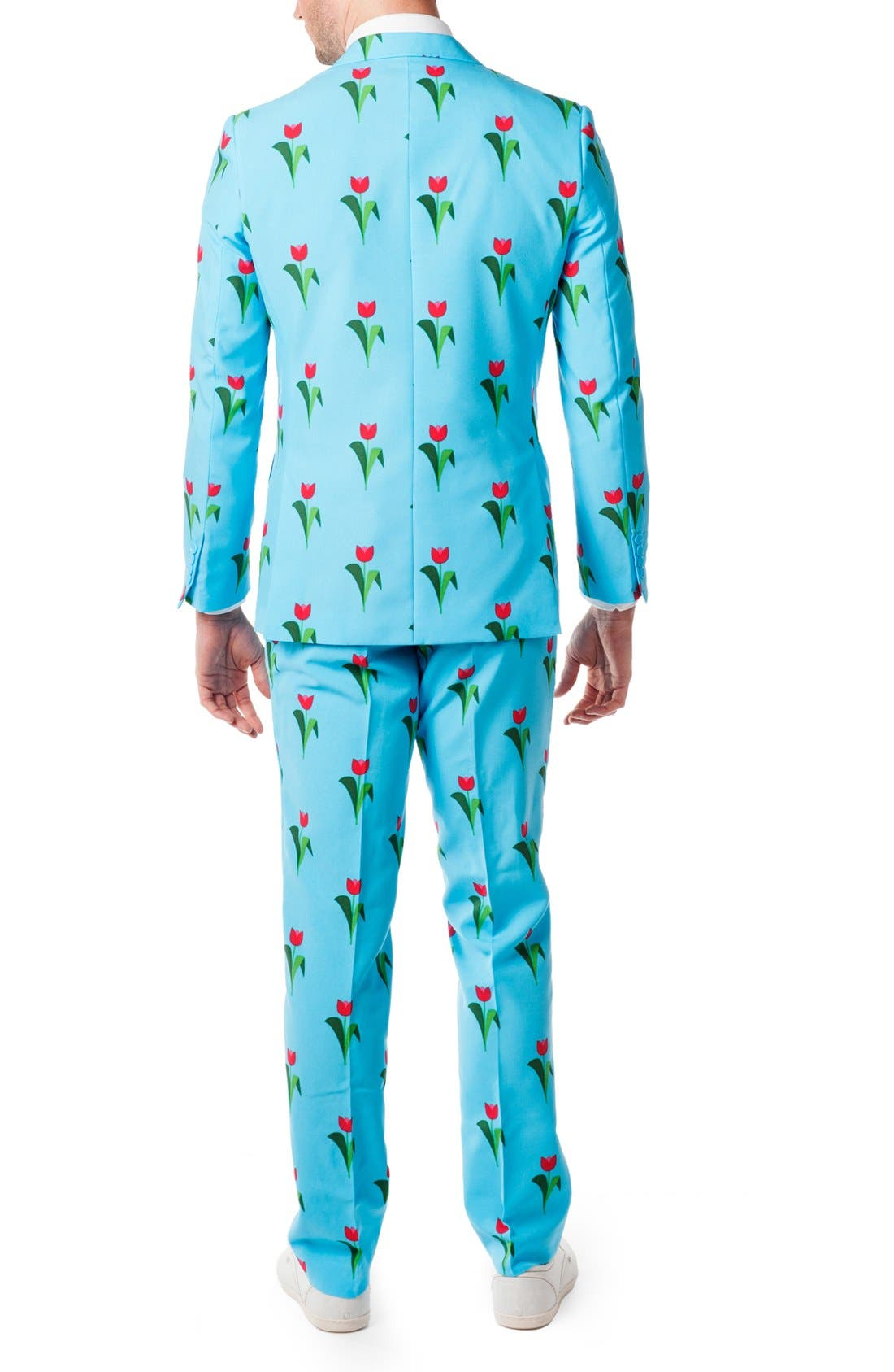 'Tulips from Amsterdam' Trim Fit Two-Piece Suit with Tie,                             Alternate thumbnail 2, color,                             Blue