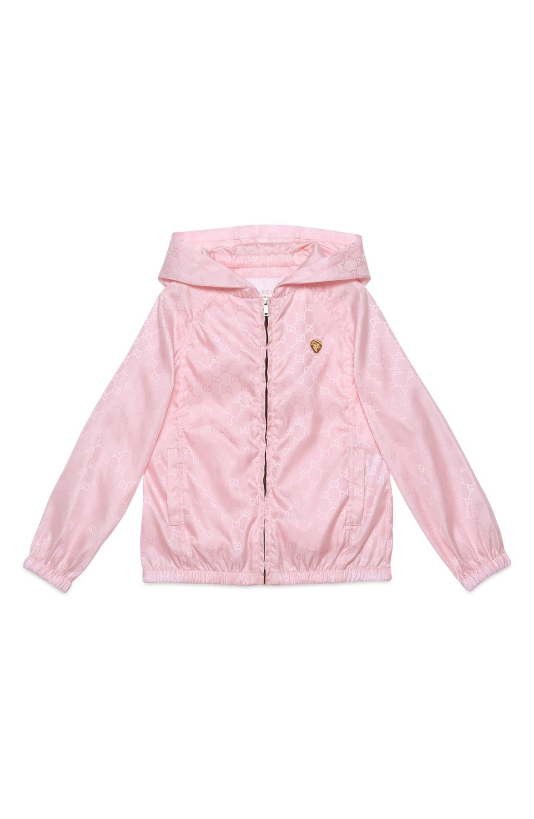 Logo Jacquard Nylon Jacket,                         Main,                         color, Rose