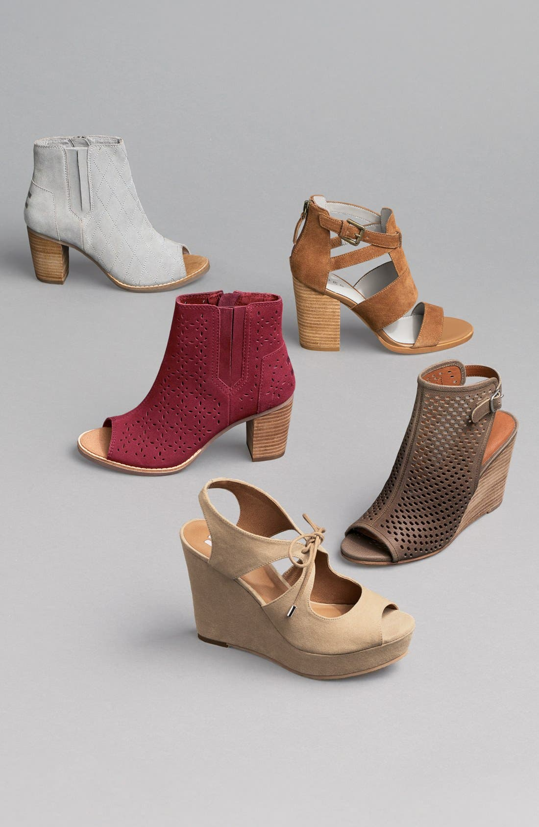 'Majorca' Peep Toe Bootie,                             Alternate thumbnail 5, color,