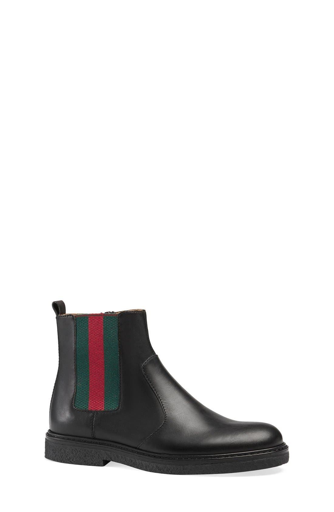 'Joshua' Chelsea Boot,                             Alternate thumbnail 2, color,                             Black